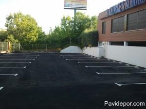 Asfalto garaje parking