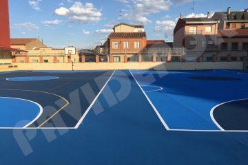 Resultado reparación suelo de colegio San Vicente de Paul, de Benavente, Zamora
